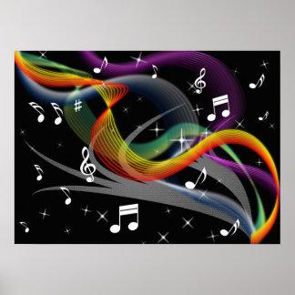 Póster Poster del ejemplo de la música