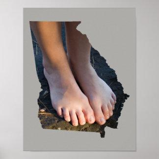 Póster Poster del esquema del estado de los pies GA de la