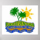 Póster Poster del estado de ánimo de Fuerteventura