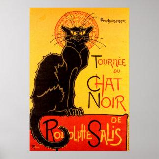 Póster Poster del gato de Tournee du Chat Noir