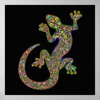 Póster Poster del Gecko