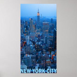 Póster Poster del horizonte de New York City (estado del