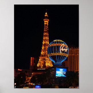 Póster Poster del hotel y del casino #2 de París Las
