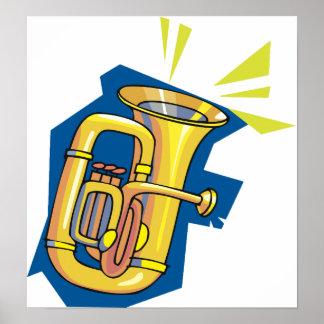 Póster Poster del instrumento de la tuba