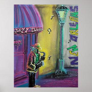 Póster Poster del jazz de New Orleans