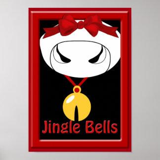 Póster Poster del navidad de Jingle Bell de la vaca