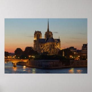 Póster Poster del Notre Dame de Paris