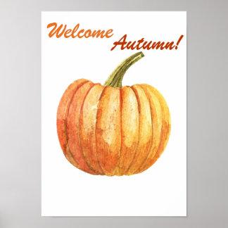 Póster Poster del otoño de la cita