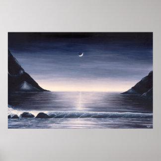 Póster Poster del paisaje marino por el potro de Mike