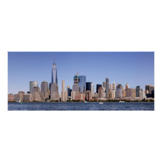 Póster Poster del panorama del Lower Manhattan
