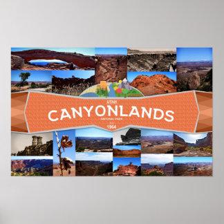 Póster Poster del parque nacional de Canyonlands