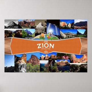 Póster Poster del parque nacional de Zion