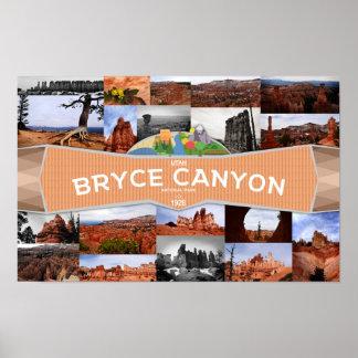 Póster Poster del parque nacional del barranco de Bryce