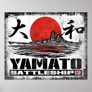 Póster Poster del poster de Yamato del acorazado
