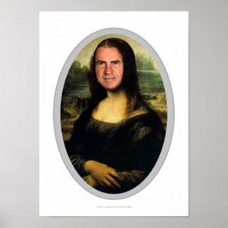 Póster Poster del recorte del carnaval de Mona Lisa
