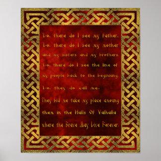 Póster Poster del rezo de Viking