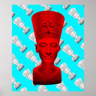 Póster Poster del rojo de Nefertiti