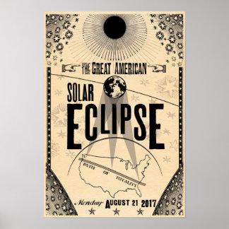 Póster Poster del Showprint-Estilo de 2017 eclipses