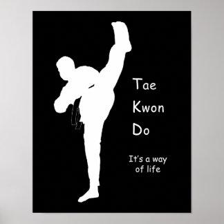Póster Poster del Taekwondo