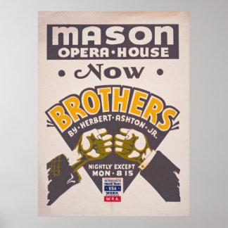 Póster Poster del teatro de la ópera del vintage