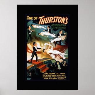 Póster Poster del teatro del vintage del mago de Thurston