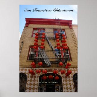 Póster Poster del templo de San Francisco Chinatown