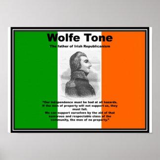 Póster Poster del tono de Wolfe