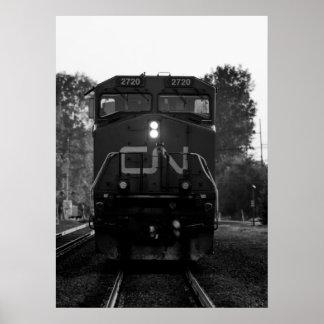 Póster Poster del tren