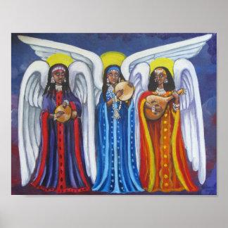 Póster Poster del trío de la música del ángel