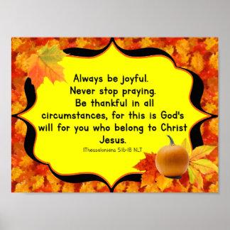 Póster Poster del verso de la biblia del otoño de la