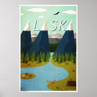 Póster Poster del viaje de Alaska