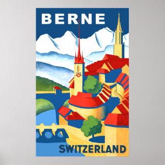 Póster Poster del viaje de Berna, Suiza