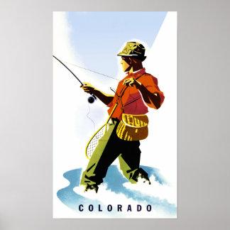 Póster Poster del viaje de Colorado