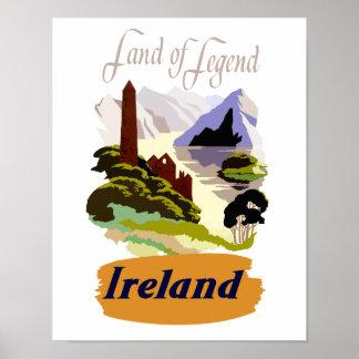 Póster Poster del viaje de Irlanda