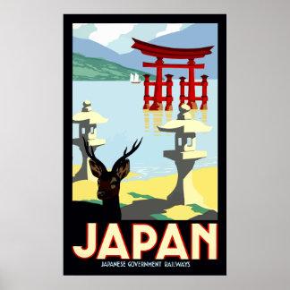Póster Poster del viaje de Japón del vintage