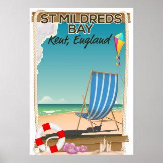Póster Poster del viaje de Kent Inglaterra de la bahía