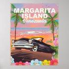 Póster Poster del viaje de la isla de Margarita -