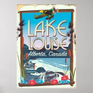 Póster Poster del viaje de Lake Louise, Alberta Canadá
