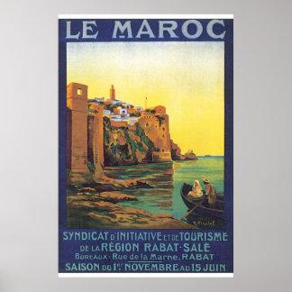 Póster Poster del viaje de Le Maroc Vintage