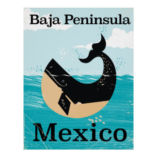 Póster poster del viaje de México de la península del