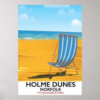 Póster Poster del viaje de Norfolk de las dunas de Holme