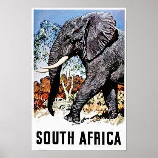 Póster Poster del viaje de Suráfrica