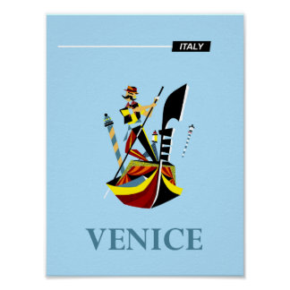 Póster Poster del viaje de Venecia, Italia