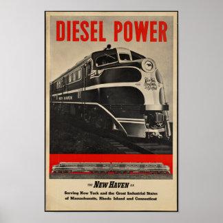 Póster Poster del viaje del ferrocarril del vintage