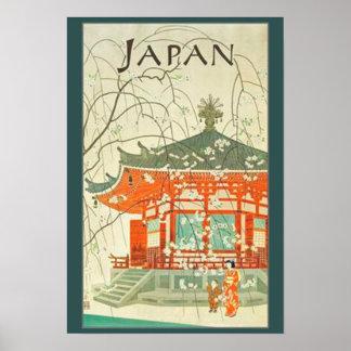 Póster Poster del viaje del japonés del vintage