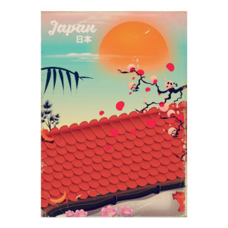 Póster Poster del viaje del paisaje de Japón