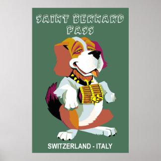 Póster Poster del viaje del paso de St Bernard