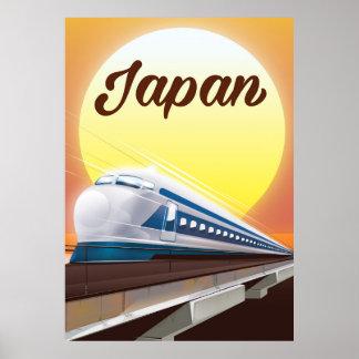 Póster Poster del viaje del tren de bala de Japón