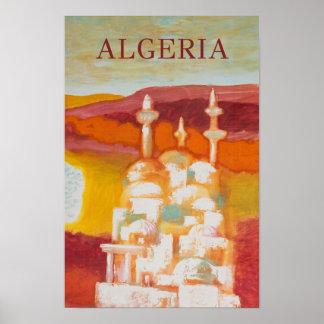 Póster Poster del viaje del vintage de Argelia