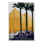 Póster Poster del viaje del vintage de Egipto restaurado